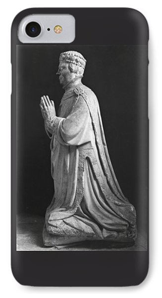 Praying Kneeling Figure Of Duc Jean De Berry 1340-1416 Count Of Poitiers IPhone Case by French School