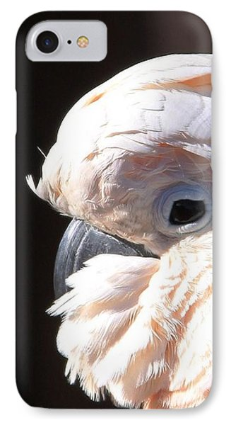 Pretty In Pink Salmon-crested Cockatoo Portrait Phone Case by  Andrea Lazar