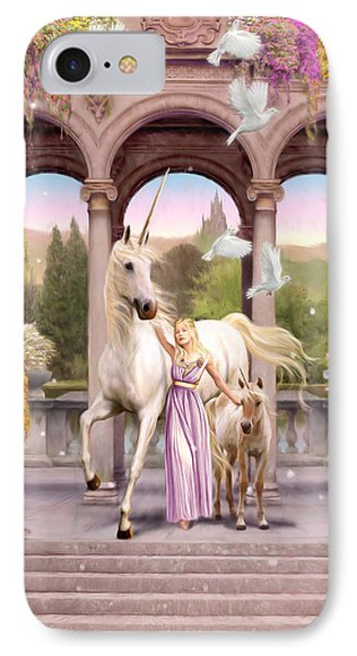 Princess Of The Unicorns Variant 1 IPhone Case by Garry Walton