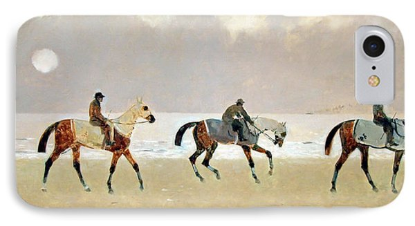 Princeteau's Riders On The Beach At Dieppe IPhone Case by Cora Wandel