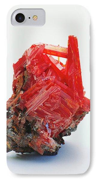 Prismatic Crocoite Crystals IPhone Case by Dorling Kindersley/uig
