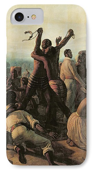 Proclamation Of The Abolition Of Slavery In The French Colonies, 23rd April 1848 IPhone Case by Francois Auguste Biard