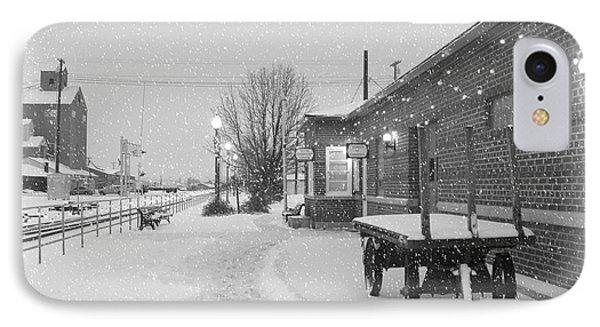 Prosser Winter Train Station  Phone Case by Carol Groenen