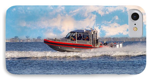 Protecting Our Waters - Coast Guard IPhone Case by Kim Hojnacki