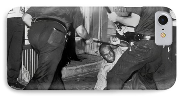 Protester Clubbed In Harlem IPhone Case by Underwood Archives
