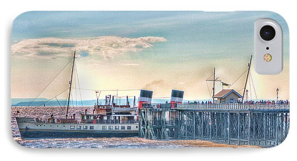 Ps Waverley At Penarth Pier Phone Case by Steve Purnell