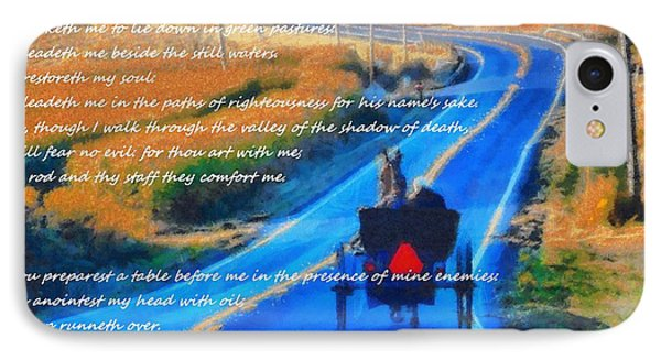 Psalm 23 Country Roads IPhone Case by Dan Sproul