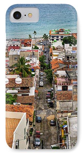 Puerto Vallarta Street Phone Case by Elena Elisseeva