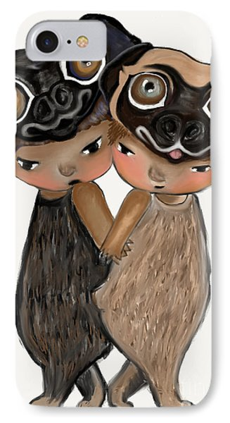 Pug Brothers Phone Case by Beatrice Ajayi