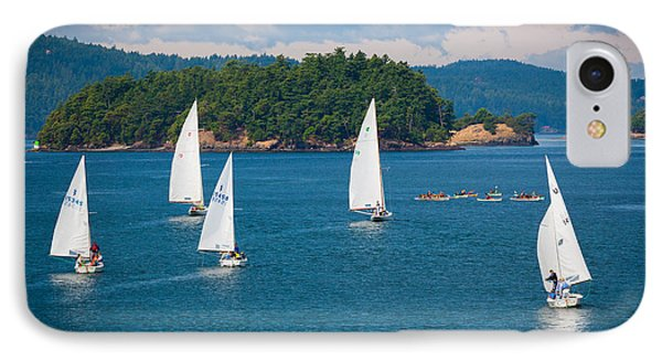 Puget Sound Sailboats IPhone Case by Inge Johnsson