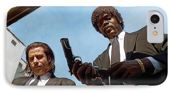 Pulp Fiction Artwork 1 IPhone Case by Sheraz A