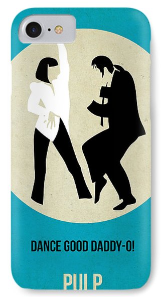 Pulp Fiction Poster 2 IPhone Case by Naxart Studio