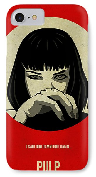 Pulp Fiction Poster IPhone Case by Naxart Studio