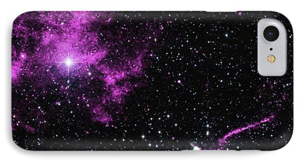 Pulsar Wind Nebula And Jet IPhone Case by Nasa/cxc/isdc/l.pavan Et Al/csiro/atnf/atca/2mass/umass/ipac-caltech/nsf