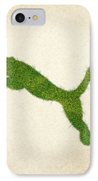 Puma Grass Logo IPhone Case by Aged Pixel