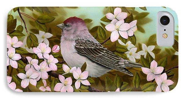 Purple Finch IPhone 7 Case by Rick Bainbridge