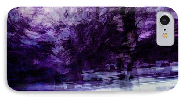 Purple Fire IPhone Case by Scott Norris