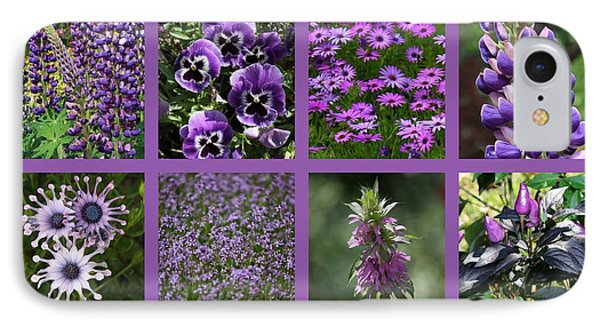 Purple In Nature Collage Phone Case by Carol Groenen