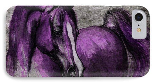 Purple One IPhone Case by Angel  Tarantella