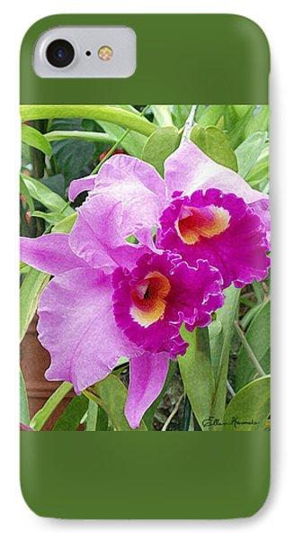 Purple Cattleya Orchids IPhone 7 Case by Ellen Henneke
