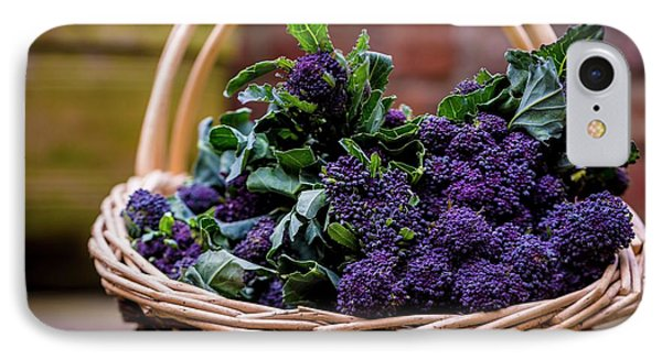 Purple Sprouting Broccoli IPhone Case by Aberration Films Ltd