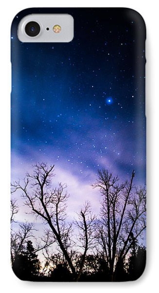 Purple Stars IPhone Case by Shelby  Young