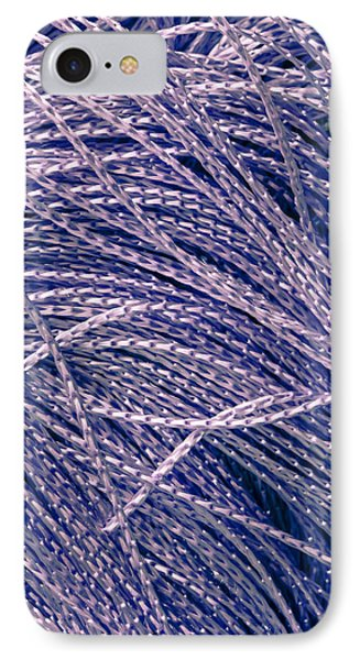 Purple String IPhone Case by Tom Gowanlock