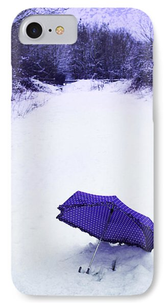 Purple Umbrella Phone Case by Amanda Elwell