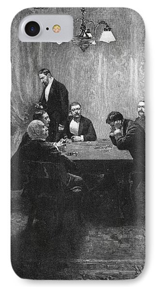 Pyle Card Game, 1893 IPhone Case by Granger
