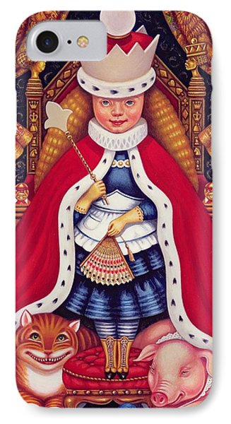 Queen Alice, 2008 Oil And Tempera On Panel IPhone Case by Frances Broomfield