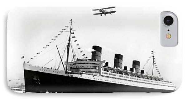 Queen Mary Maiden Voyage IPhone Case by Underwood Archives