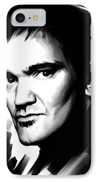 Quentin Tarantino Artwork 2 IPhone Case by Sheraz A
