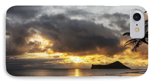 Rabbit Island Sunrise - Oahu Hawaii IPhone Case by Brian Harig