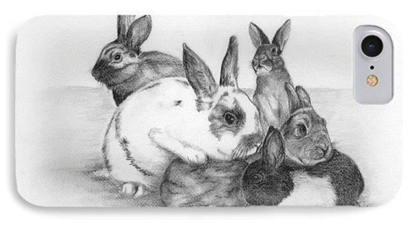 Rabbits Rabbits And More Rabbits Phone Case by Nan Wright