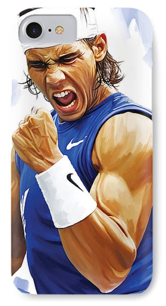 Rafael Nadal Artwork IPhone Case by Sheraz A