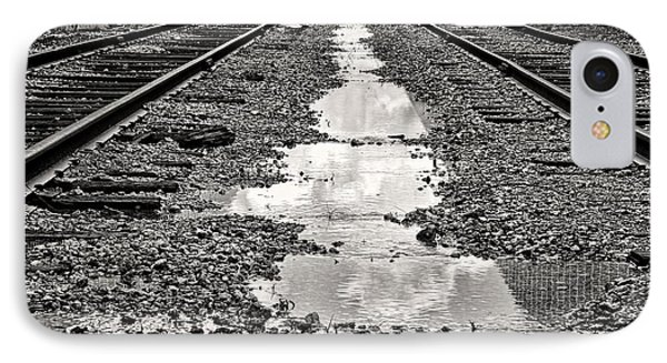 Railroad 5715bw Phone Case by Rudy Umans