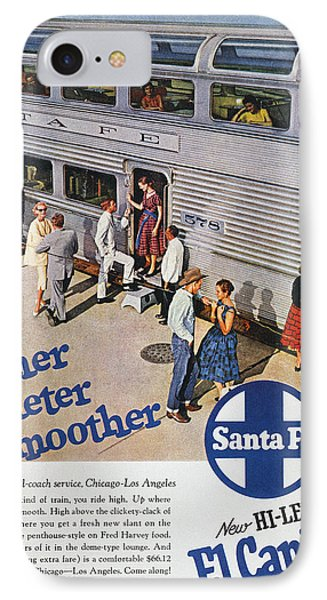 Railroad Ad, 1957 Phone Case by Granger