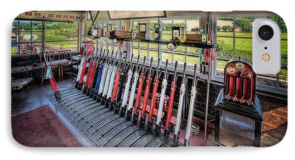 Railway Signal Box Phone Case by Adrian Evans