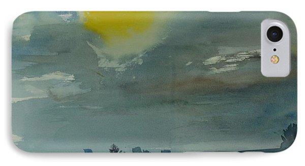 Rain In The Air, 1981 Wc On Paper IPhone Case by Brenda Brin Booker