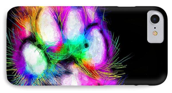 Rainbow Dog Paw IPhone Case by Daniel Janda