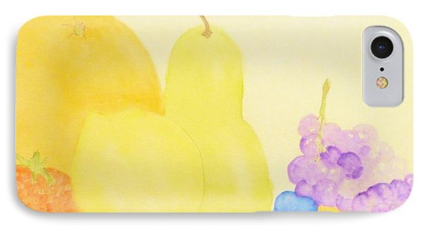 Rainbow Fruits And The Floating Lemon Phone Case by Ann Michelle Swadener