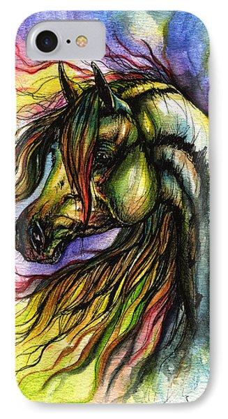 Rainbow Horse 2 IPhone Case by Angel  Tarantella