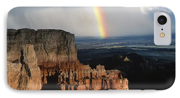 Rainbow Over  Bryce Canyon Phone Case by Sandra Bronstein