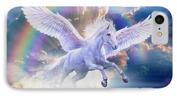 Rainbow Pegasus IPhone Case by Jan Patrik Krasny