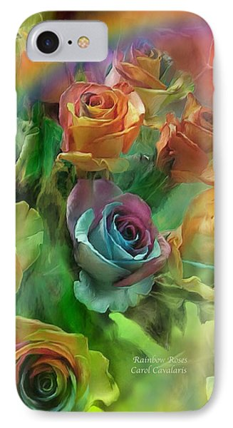 Rainbow Roses Phone Case by Carol Cavalaris