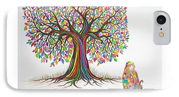 Rainbow Tree Dreams Phone Case by Nick Gustafson