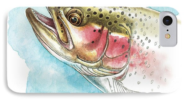 Rainbow Trout Study Phone Case by JQ Licensing