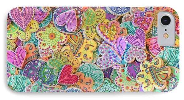 Rainbow_henna_cookies IPhone Case by Alixandra Mullins