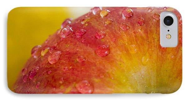 Raindrops On An Apple Phone Case by Warrena J Barnerd