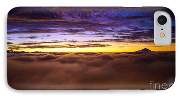 Rainier Above The Clouds IPhone Case by Mike Reid